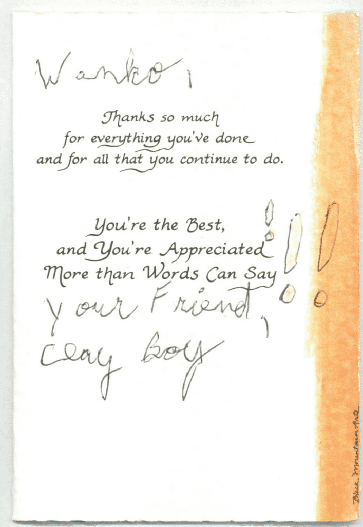 Wanko Law Thank You Card